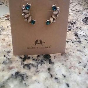 Chloe + Isabel Jewelry - Chloe & Isabel Aquamarina Ear Climbers
