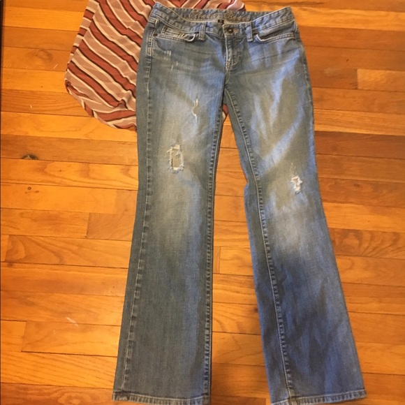 GAP Denim - Gap Distressed boot cut jeans size 27
