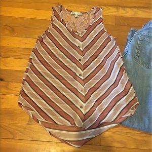 🌺B1G1🌺Chevron button down dress top