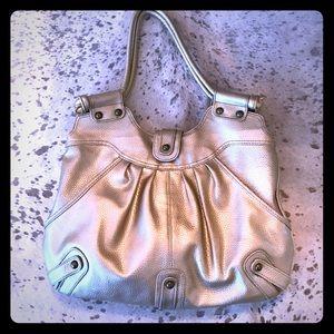 Xhilaration Handbags - Metallic gold tote or shoulder bag