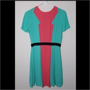 Prabal Gurung Dresses & Skirts - Bright pink and blue preppy dress. Negotiable $