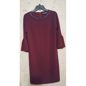 Karl Lagerfeld Dresses & Skirts - Burgundy Karl langerfeld Bell sleeve dress