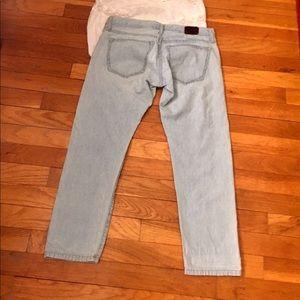 Banana Republic Jeans - Banana republic pinstriped cropped jeans