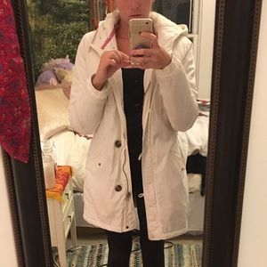 A.X.N.Y. American Exchange Jackets & Blazers - American Eagle Long White Winter Coat