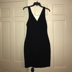 Express black body con dress