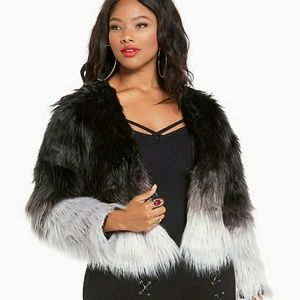 ISO Torrid Empire Cookie Lyon Ombre Fur Coat 4x