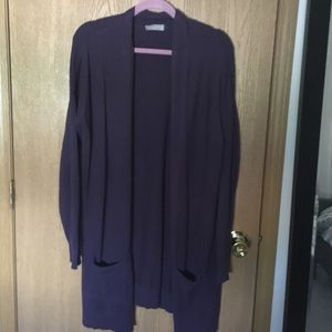 evolution by cyrus Sweaters - Purple open cardigan