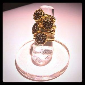Jewelry - • swarovski pave crystal Button ring •