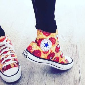 Converse Shoes - 🌺SALE🌺🍕PEPPERONI PIZZA HIGH TOP CONVERSE!!!!!🍕
