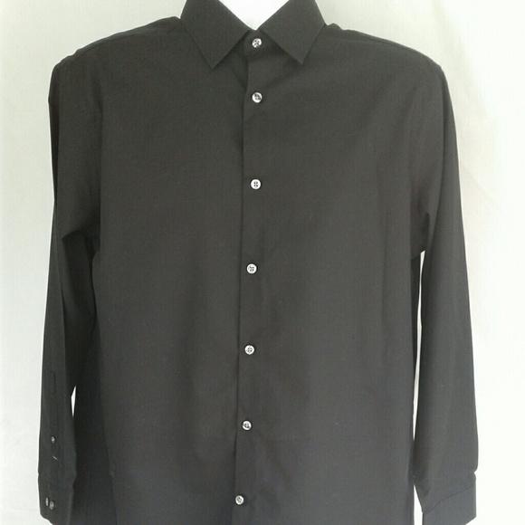 J ferrar men 39 s black slim fit dress shirt from karen 39 s for J ferrar military shirt