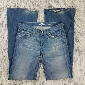 7 for all mankind dojo flare bell jeans size 27