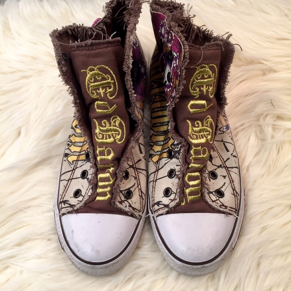 71 ed hardy shoes ed hardy canvas high top