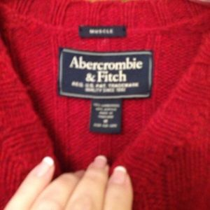 Abercrombie and Fitch Red Wool Sweater