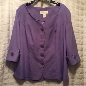 New detailed purple blazer/jacket 22W