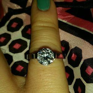 1 Carat Simulated Diamond Ring