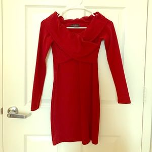 few moda Dresses & Skirts - Few Moda Wine Red Mini Dress