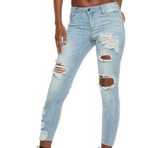 Denim - Cello Distressed Skinny Jeans
