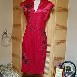 VN Fashion Dresses & Skirts - VN Fashion Asian Red Silk dress large, NWOT
