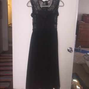 Dresses & Skirts - Goth Black Lace Sleeveless tea length dress. NWT.