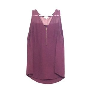 Burgundy sleeveless top by Pixley