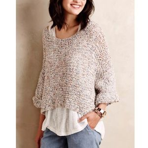 Anthropologie Sweaters - ANTHROPOLOGIE Pullover Top Spring Eyelet Sweater
