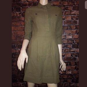 J. Crew Dresses - J. Crew military Brushed Cotton Shirtdress