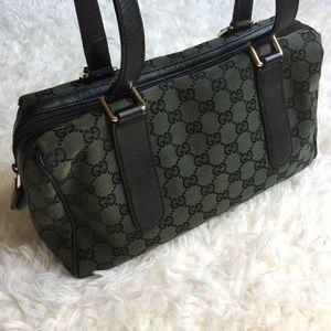 Gucci Handbags - [Gucci] Dark Green Guccissima Canvas Shoulder Bag