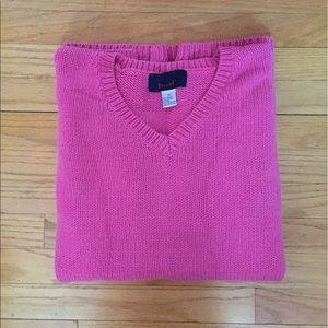 Denim & Co. Sweaters - Denim & Co. Bright Pink Sweater