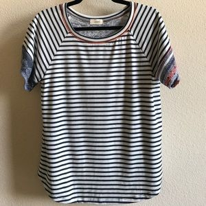 Oddy Mixed Media Cotton Top