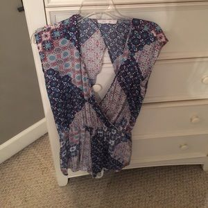 Open back and front romper