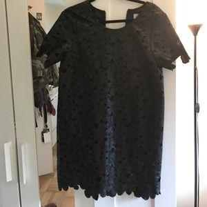 J.O.A Floral Cutout Faux Leather Dress (M)