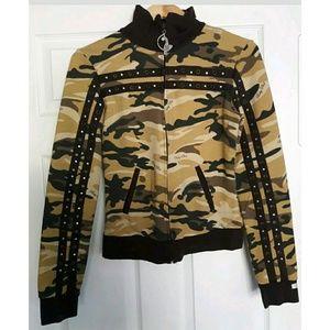 Baby Phat Jackets & Blazers - Baby Phat camouflage jacket with bling Size Medium