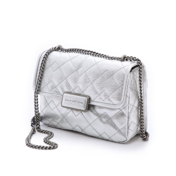 a5ac78bfbfd3 Marc by Marc Jacobs Quilted Metallic Rebel 24 Bag