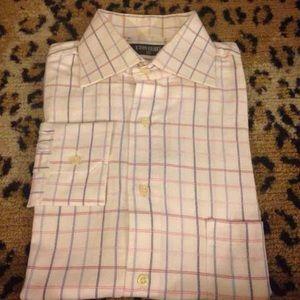 Eton Other - Eton White & Pink Check Dress Shirt 15.5 34/35