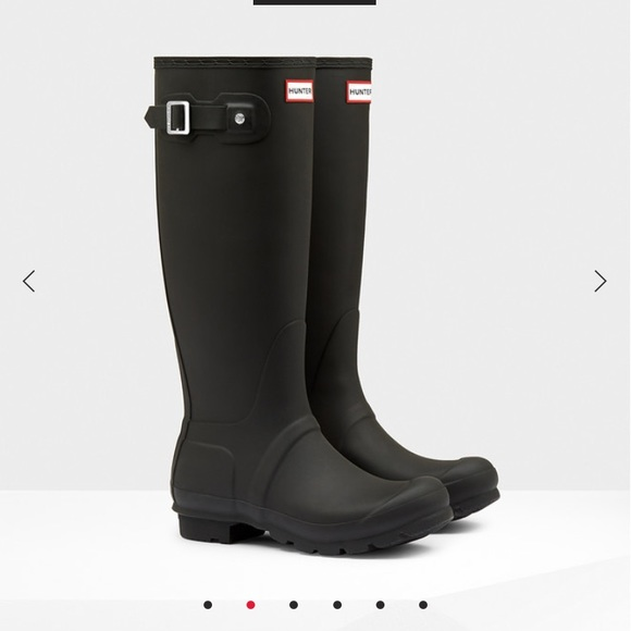 28 off hunter boots shoes black matte hunter boots