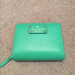 kate spade Handbags - Perfect condition kate spade green wallet