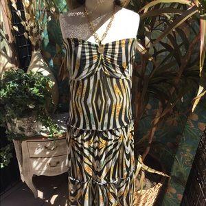 "Apple Bottoms Dresses & Skirts - ""Apple Bottoms"" maxi halter dress w/3 tiered skirt"