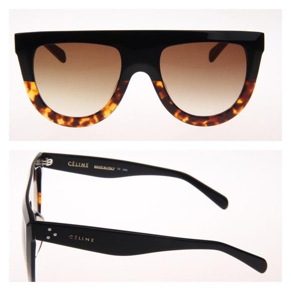 d40852b312e4 Celine Shadow Sunglasses Black Tortoise CL41026