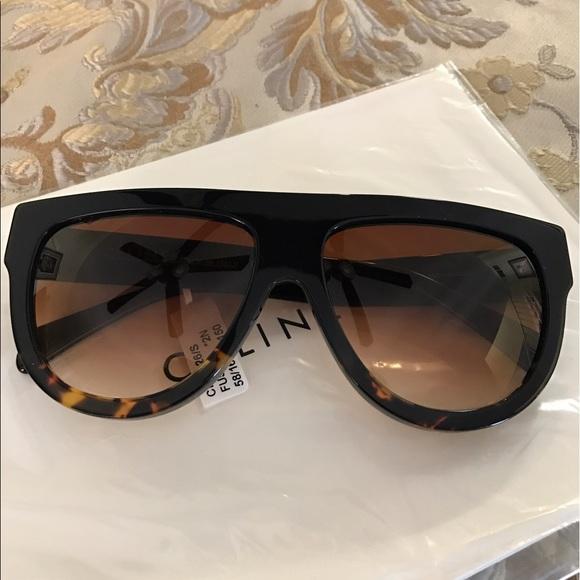 476ef99989d0 Celine Shadow Sunglasses Black Tortoise