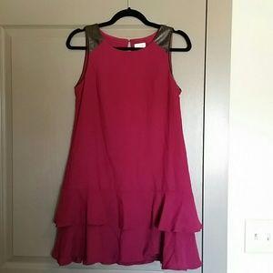 HD In Paris Magenta Tiered Sheath Dress size 2