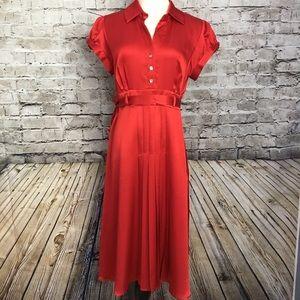 Robbie Bee Dresses & Skirts - Red silk like Robbie Bee dress size 8