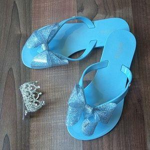 Melissa Other - Mini Melissa PVC Glitter Bow Flip Flops