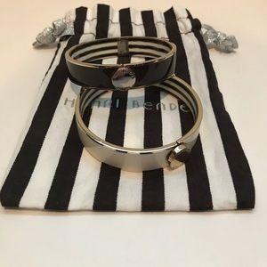Henri Bendel enamel bangle bracelets