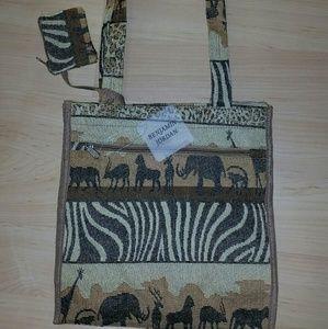 07907901ca05f2 Benjamin jordan Bags - Safari tapestry animal print tote bag