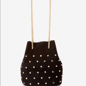 Express street level studded bucket bag