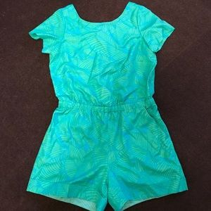 LOFT Dresses & Skirts - Loft green and blue polyester romper 0P