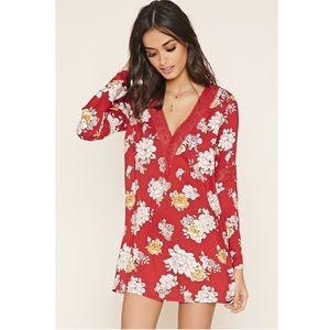 Forever 21 Dresses & Skirts - Floral Mini Babydoll dress