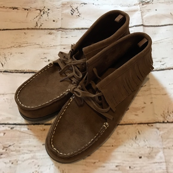 American Eagle Moccasins - Outer is in perfect condition but has wear on the insides.