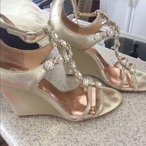 c88f4b78b62 Badgley Mischka Shoes - Badgley Mischka Tabby wedges