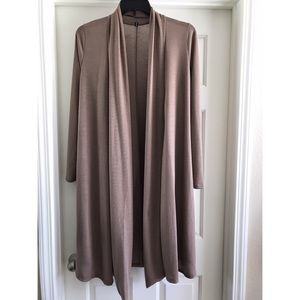 Rags and Couture Sweaters - L taupe duster cardigan